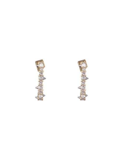 Alexis Bittar - White Crystal Encrusted Mini Link Huggie Earring You Might Also Like - Lyst