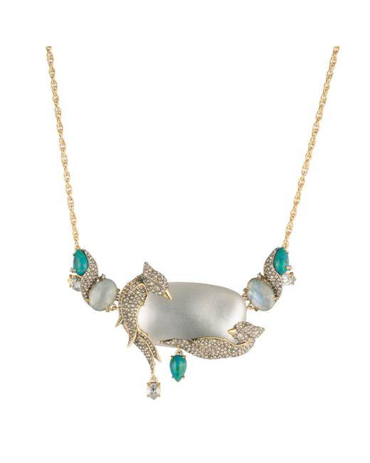 Alexis Bittar - Metallic Crystal Encrusted Lovebirds Statement Necklace - Lyst