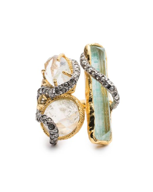 Alexis Bittar   Blue Moonlight Stacked Cocktail Ring   Lyst