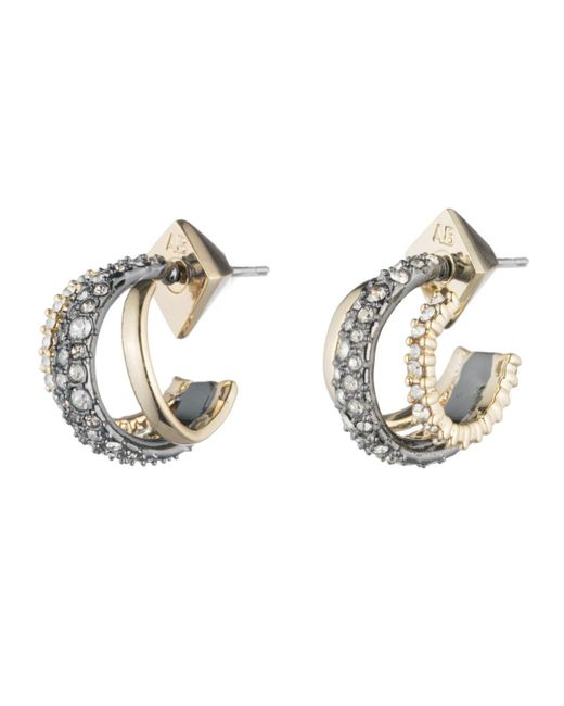 Alexis Bittar | Metallic Crystal Encrusted Orbiting Hoop Earring You Might Also Like | Lyst
