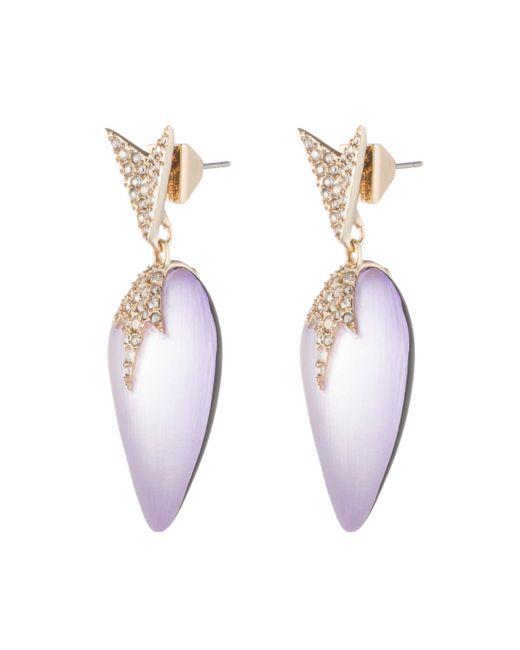 Alexis Bittar - Purple Crystal Encrusted Dangling Starburst Post Earring - Lyst