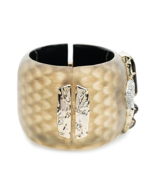 Alexis Bittar | Metallic Wide Lucite Hinge Bracelet With Rocky Stone And Pave Detail You Might Also Like | Lyst