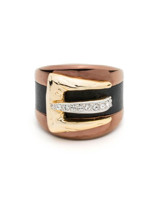 Alexis Bittar | Metallic Buckle Ring With Leather Accent You Might Also Like | Lyst