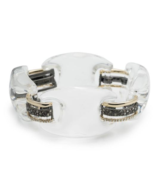 Alexis Bittar | Metallic Crystal Encrusted Lucite Link Soft Bracelet You Might Also Like | Lyst
