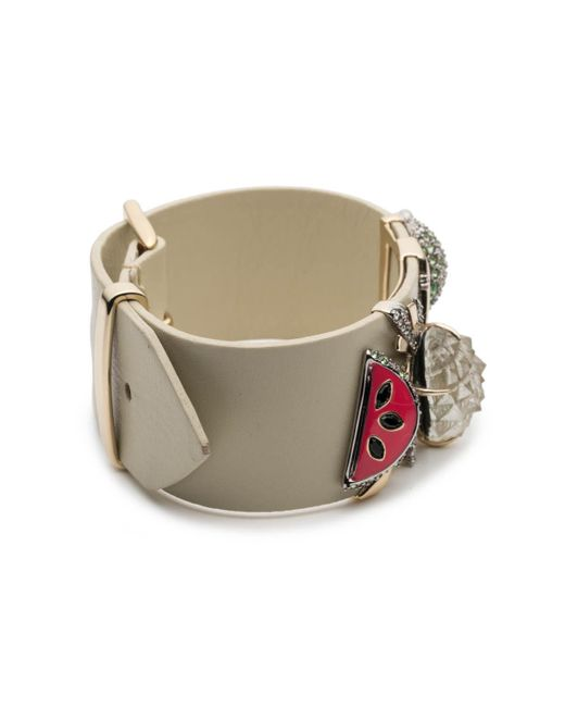 Alexis Bittar - Multicolor Fruit Studded Leather Bracelet You Might Also Like - Lyst
