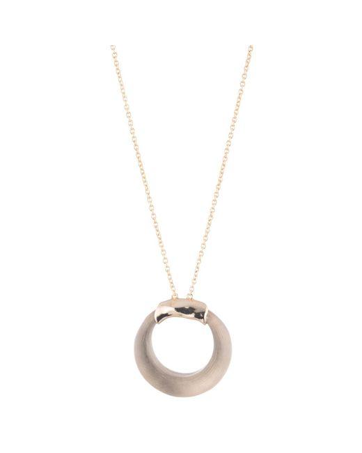 Alexis Bittar - Gray Circle Pendant Necklace - Lyst