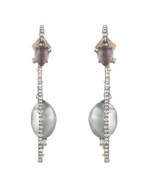 Alexis Bittar - Multicolor Crystal Encrusted Stone Coil Post Earring - Lyst