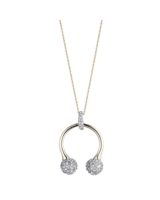 Alexis Bittar   Metallic Crystal Encrusted Horseshoe Pendant Necklace You Might Also Like   Lyst