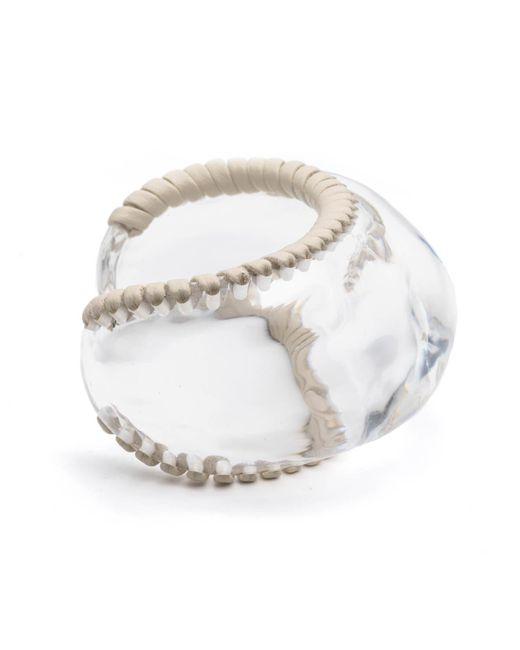 Alexis Bittar - Metallic Leather Wrapped Watery Cuff Bracelet - Lyst