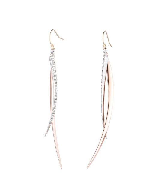 Alexis Bittar - Multicolor Two-tone Crystal Encrusted Spear Wire Earring You Might Also Like - Lyst