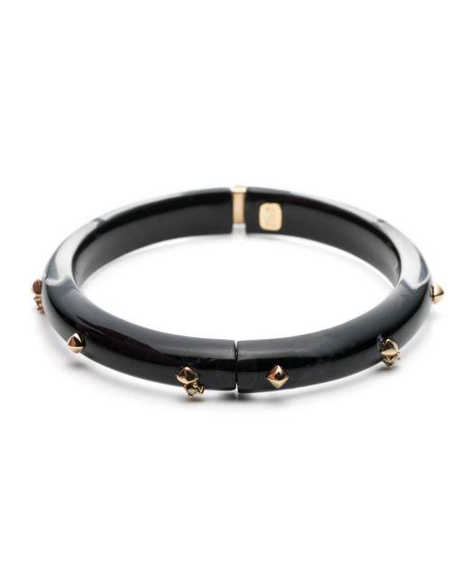 Alexis Bittar - Black Golden Studded Hinge Bangle Bracelet You Might Also Like - Lyst