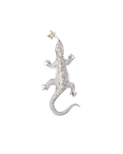 Alexis Bittar - Multicolor Crystal Encrusted Lizard Pin - Lyst