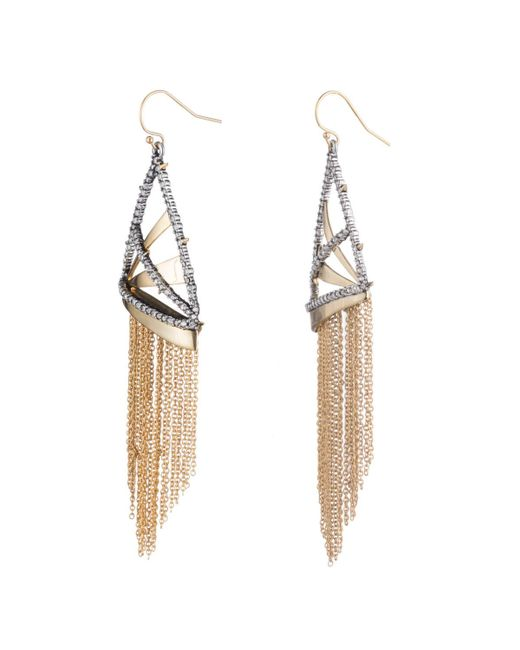 Alexis Bittar - Multicolor Crystal Encrusted Plaid Fringe Earring You Might Also Like - Lyst