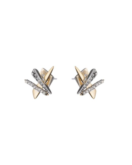 Alexis Bittar - Metallic Crystal Encrusted Plaid Post Earring You Might Also Like - Lyst