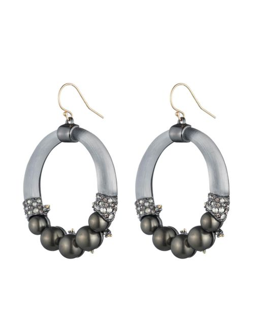 Alexis Bittar | Gray Crystal Accented Pearl Wire Earring You Might Also Like | Lyst