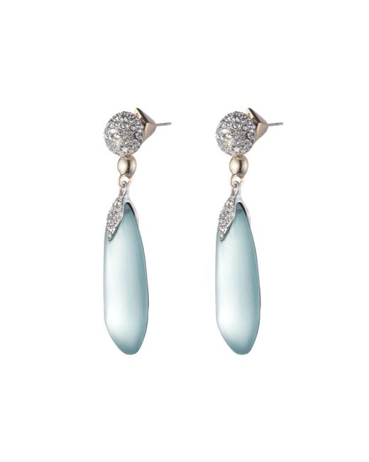 Alexis Bittar - Blue Crystal Encrusted Dangling Lucite Post Earring You Might Also Like - Lyst