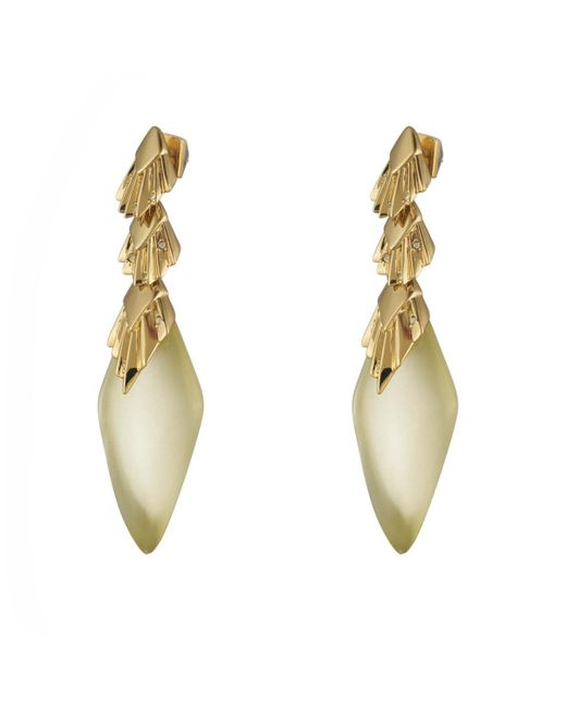 Alexis Bittar | Multicolor Crystal Studded Pleated Dangling Post Earring You Might Also Like | Lyst