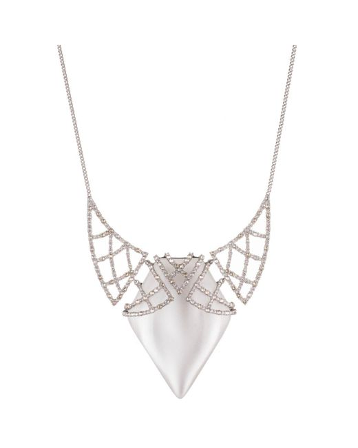 Alexis Bittar | Metallic Crystal Encrusted Lace Bib Necklace You Might Also Like | Lyst