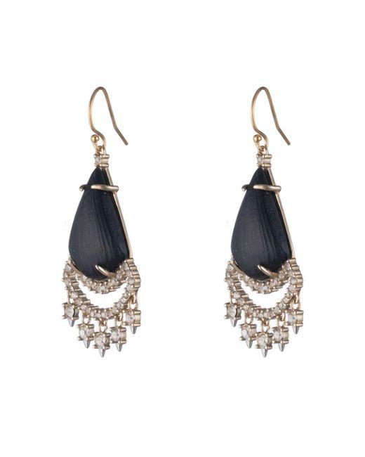 Alexis Bittar - Black Crystal Lace Chandelier Earring - Lyst