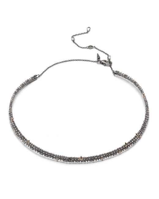 Alexis Bittar | White Crystal Encrusted Spike Accented Choker Necklace You Might Also Like | Lyst