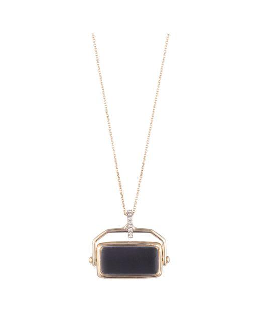 Alexis Bittar - Black Custom Studded Pendant - Lyst