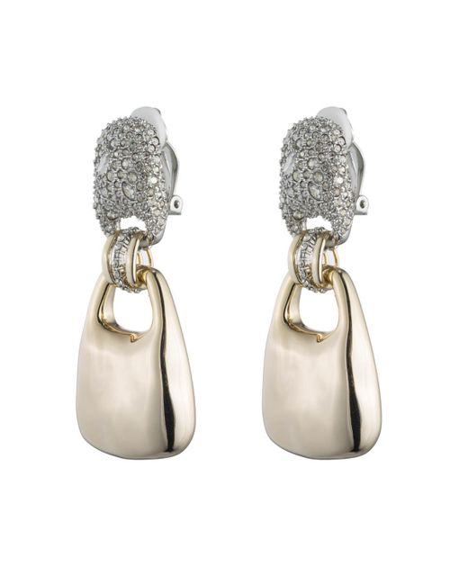 Alexis Bittar - Metallic Crystal Encrusted Liquid Gold Link Dangling Clip Earring You Might Also Like - Lyst