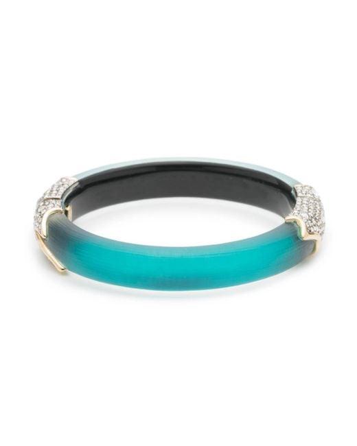 Alexis Bittar - Multicolor Crystal Encrusted Feather Hinge Bracelet - Lyst