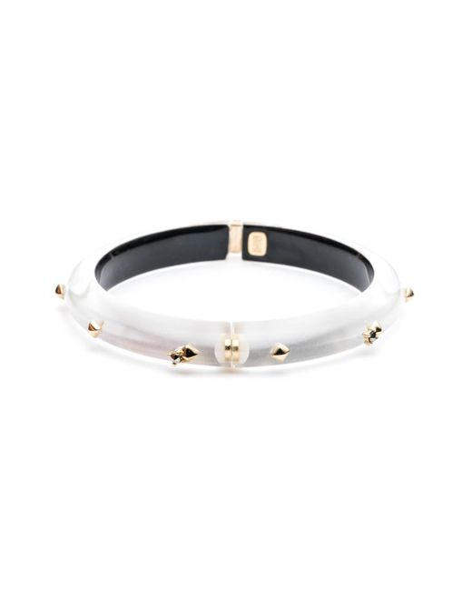 Alexis Bittar | Metallic Golden Studded Hinge Bangle Bracelet You Might Also Like | Lyst