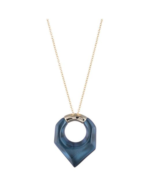 Alexis Bittar - Blue Faceted Pentagon Pendant Necklace You Might Also Like - Lyst