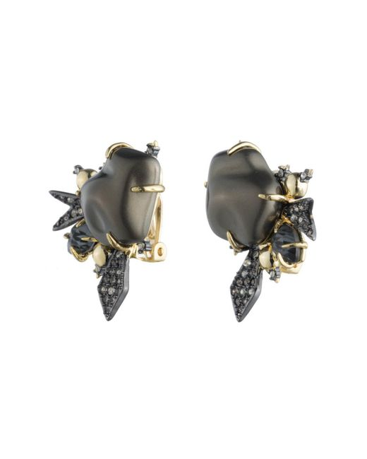 Alexis Bittar | Multicolor Crystal Encrusted Starburst Pearl Button Clip Earring You Might Also Like | Lyst