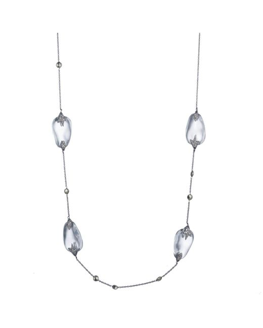 Alexis Bittar | Multicolor Crystal Accented Lucite Station Necklace You Might Also Like | Lyst