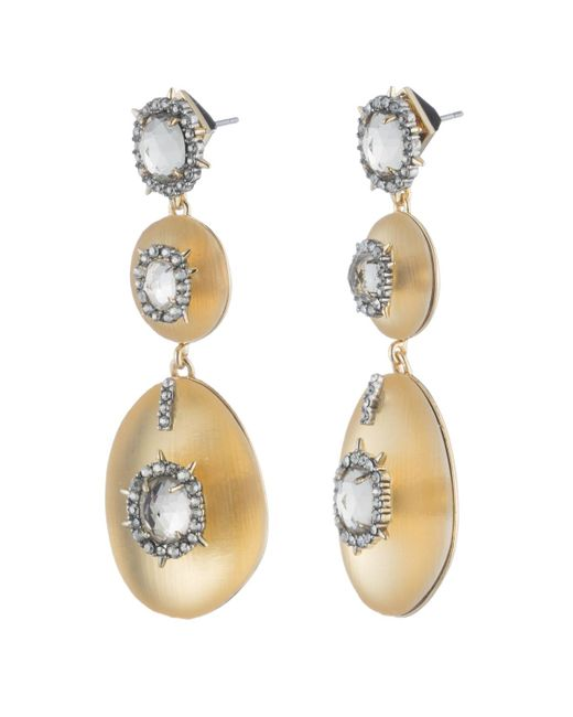 Alexis Bittar - Metallic Triple Lucite Drop Earring You Might Also Like - Lyst