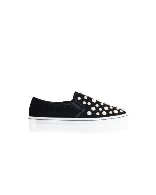 Alice + Olivia | Black Sasha Pearls Slip On Sneaker | Lyst