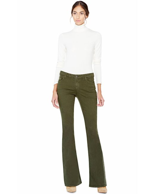 Alice + Olivia | White Garrison Slim Mock Neck Top | Lyst