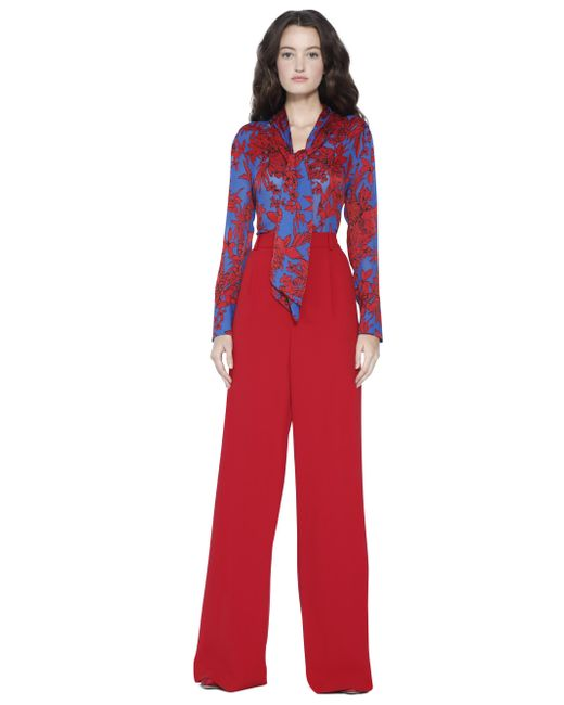 Alice + Olivia - Red Gwenda Cropped Blouse - Lyst