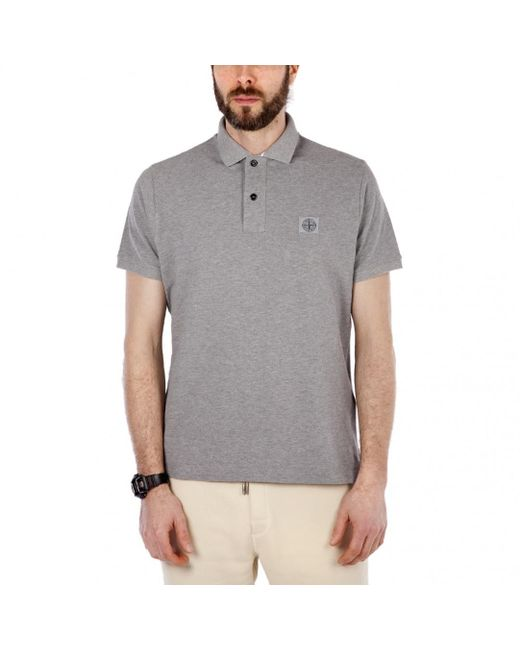 Stone Island - Gray Polo Shirt for Men - Lyst