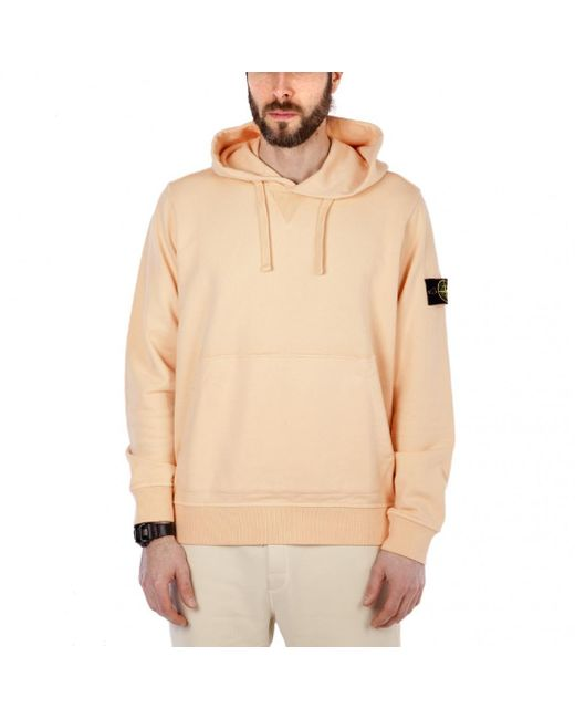Stone Island - Pink Hooded Sweater for Men - Lyst