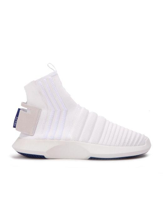online retailer caf3d f64c8 ... Adidas - White Crazy 1 Adv Sock Pk for Men - Lyst ...