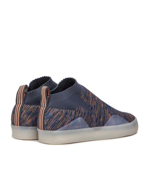 new styles fbc0c 11baa ... Adidas Originals - Blue Adidas 3st.002 Primeknit for Men - Lyst ...
