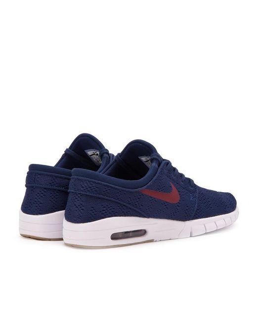 Lyst Nike Stefan Janoski Max Hombres En Azul Para Los Hombres Max cfd855