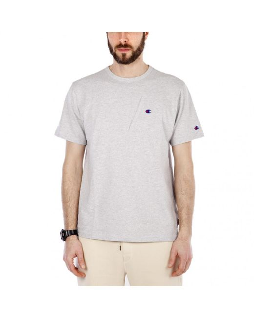 Champion - Gray X Beams Pocket Detail Tee for Men - Lyst