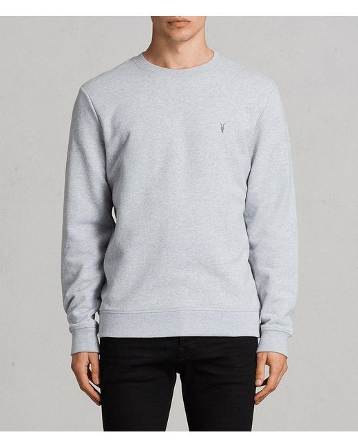 AllSaints - Gray Raven Crew Sweatshirt for Men - Lyst