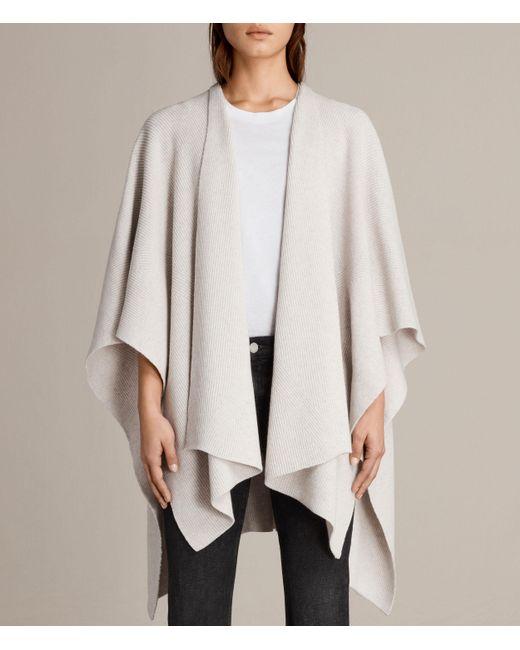 AllSaints | White Nargo Wrap Shawl | Lyst