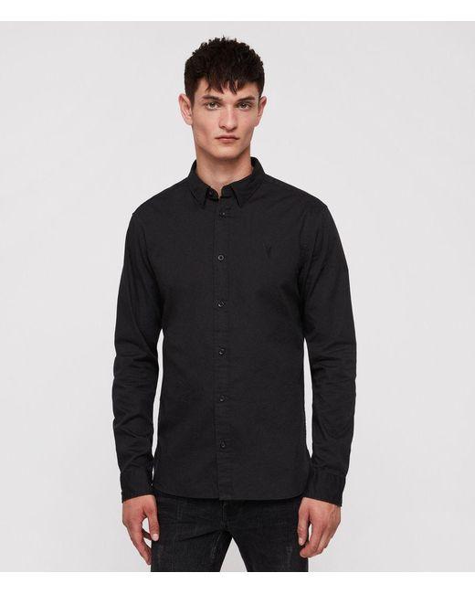 AllSaints - Black Redondo Shirt for Men - Lyst