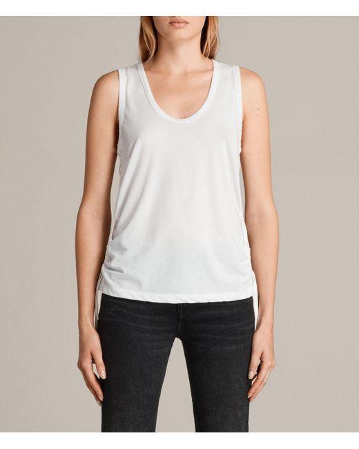 AllSaints | White Molly Devo Tank Top | Lyst