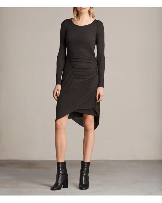 AllSaints | Black Duna Dress | Lyst