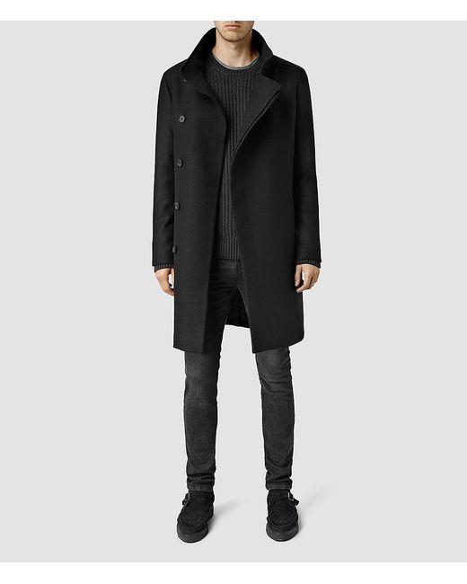 AllSaints - Brown Banner Coat for Men - Lyst