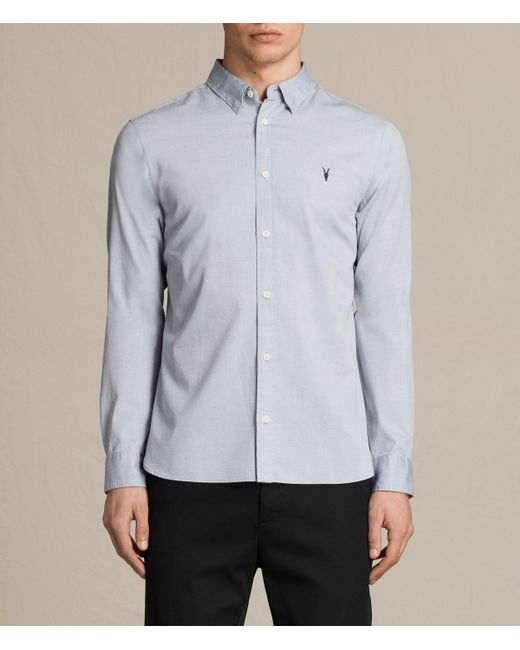 AllSaints   Gray Redondo Shirt for Men   Lyst
