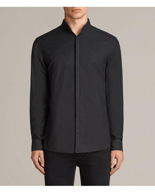 AllSaints - Black Augusta Shirt for Men - Lyst