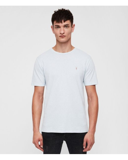 AllSaints - Blue Brace Tonic Crew T-shirt for Men - Lyst